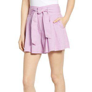 Women's Bp. High Waist Linen Blend Shorts